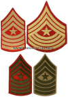 USMC SERGEANT MAJOR SEW-ON CHEVRONS