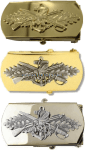 U.S. NAVY SEABEE COMBAT WARFARE BELT BUCKLE