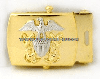 us navy buckle for officer gold