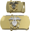 U.S. NAVY OFFICER BELT BUCKLE