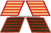 MARINE CORPS SERVICE STRIPES (SET OF 5)