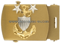 coast guard buckle and tip male master chief petty officer