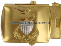 COAST GUARD BUCKLE AND TIP MALE CHIEF PETTY OFFICER