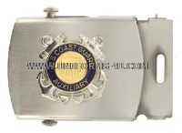 COAST GUARD AUXILIARY BELT BUCKLE WITH AUXILIARY EMBLEM