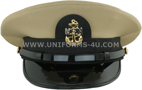 5ab3bf537fb U.S. NAVY CHIEF PETTY OFFICER KHAKI COMBINATION CAP