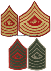 USMC SERGEANT MAJOR OF THE MARINE CORPS SEW-ON CHEVRONS