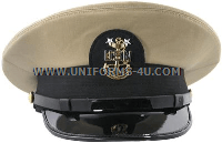 U.S. NAVY MASTER CPO KHAKI COMBINATION CAP