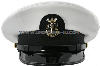 U.S. NAVY MASTER CHIEF PETTY OFFICER WHITE COMBINATION CAP