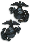 USMC ENLISTED SERVICE UNIFORM COLLAR DEVICES