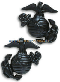 USMC SERVICE UNIFORM ENLISTED COLLAR DEVICES