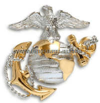 MARINE CORPS OFFICER DRESS CAP DEVICE