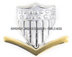 COAST GUARD CAP DEVICE GARRISON E4 GOLD AND SILVER