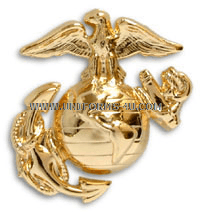 USMC ENLISTED DRESS CAP INSIGNIA