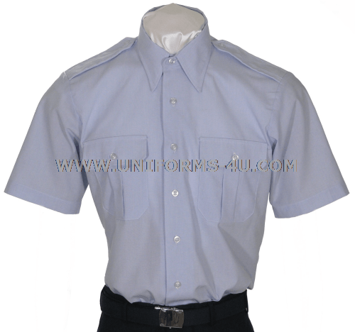 Usaf Men S Short Sleeved Blue Shirt