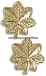 U.S. Army Major Pin-On Metal Rank Insignia
