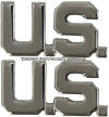 USAF OFFICERS U.S. LAPEL INSIGNIA WITH MIRROR FINISH