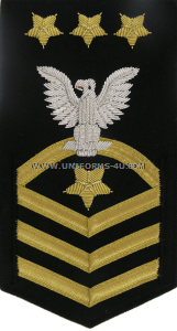 U.S. Navy MCPON Full Bullion Rating Badge