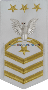 U.S. NAVY MASTER CHIEF PETTY OFFICER OF THE NAVY (MCPON) WHITE RATING BADGE