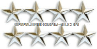 FOUR STAR POINT TO POINT NICKEL PLATED SHOULDER RANKS
