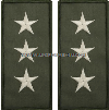 U.S. NAVY VICE ADMIRAL EMBROIDERED RANK INSIGNIA FOR FLIGHT SUIT