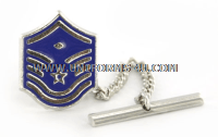 air force tie tac new master sergeant with diamond