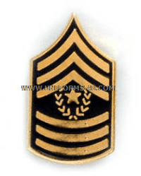 army tie tac command sergeant major