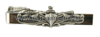 navy tie clasp silver enlisted with surface warfare insignia