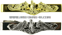 navy tie clasp gold officer with submarine dolphin insignia