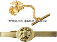 marine corps tie clasp anodized enlisted