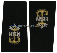 U.S. NAVY MASTER CHIEF PETTY OFFICER OF THE NAVY (MCPON) SOFT EPAULETS
