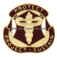 army medical research and material command unit crest