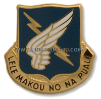 army 25th aviation battalion unit crest