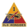 U.S. ARMY 1ST ARMORED DIVISION UNIT CREST