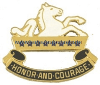 army 8th cavalry regiment right hand unit crest