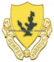 army 12th cavalry regiment unit crest