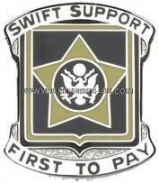 ARMY 15TH FINANCE BATTALION UNIT CREST
