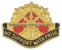 ARMY 46TH SUPPORT GROUP UNIT CREST