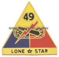 ARMY 49TH ARMOR DIVISION UNIT CREST