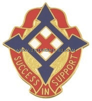ARMY 50TH SUPPORT GROUP UNIT CREST