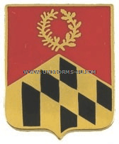 ARMY 110 FIELD ARTILLERY REGIMENT ARNG MARYLAND UNIT CREST