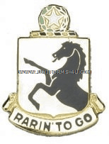 army 112 armor regiment unit crest