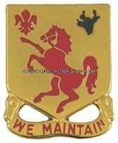 ARMY 113 ARMORED CAVALRY REGIMENT UNIT CREST