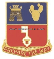 ARMY 116 ENGINEER BATTALION UNIT CREST
