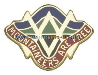 WEST VIRGINIA  STATE AREA COMMAND  HQ ARNG UNIT CREST