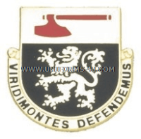 army 124 regiment arng vermont unit crest