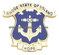 RHODE ISLAND STATE AREA COMMAND HQ ARNG UNIT CREST