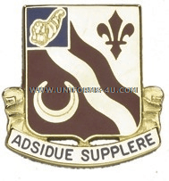 ARMY 134 SUPPORT BATTALION UNIT CREST