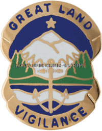 ALASKA AREA COMMAND HQ ARNG UNIT CREST