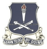 army finance school unit crest