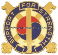 ARMY 142 SUPPORT BATTALION UNIT CREST